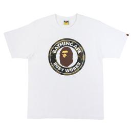 BAPE 1st Camo Busy Works T-Shirt Wht/Grn