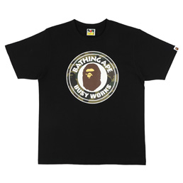 BAPE 1st Camo Busy Works T-Shirt Blk/Grn