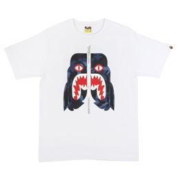 BAPE Color Camo Tiger T-Shirt Wht/Nav