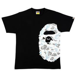 BAPE Space Camo Side Ape Head T-Shirt Black