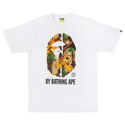 BAPE Forest Camo By Bathing T-Shirt White