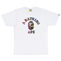 BAPE Mix Camo College T-Shirt White