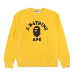 BAPE College Crewneck Yellow