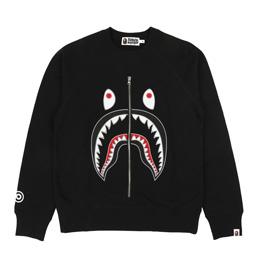 BAPE Applique Shark Crewneck Black