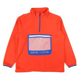 BAPE Half Zip Wide Fleece Top Orange