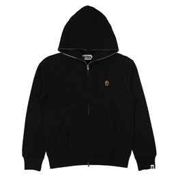 BAPE Silicon One Point Full Zip Hoodie Blk