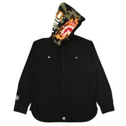 BAPE Tiger Hoodie Shirt Black