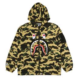 BAPE 1st Camo Shark Hoodie Jacket Yel