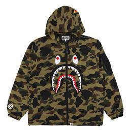 BAPE 1st Camo Shark Hoodie Jacket Grn