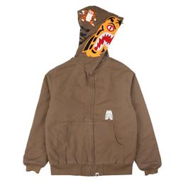 BAPE Tiger Work Hoodie Jacket Beige
