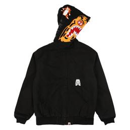 BAPE Tiger Work Hoodie Jacket Black