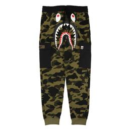 BAPE 1st Camo Shark Slim Sweat Pants Grn