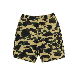 BAPE 1st Camo Beach Pants Yellow