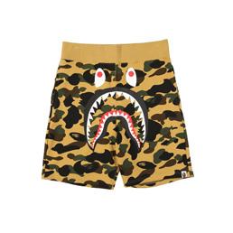 BAPE 1st Camo Shark Sweat Shorts Yel