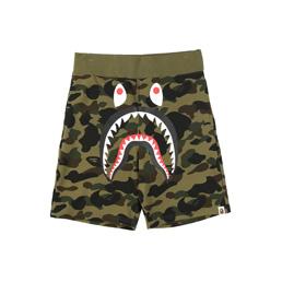 BAPE 1st Camo Shark Sweat Shorts Grn