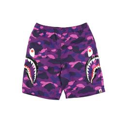 BAPE Color Camo Shark Beach Pants Purple