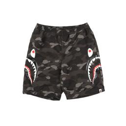 BAPE Color Camo Shark Beach Pants Black