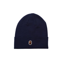 BAPE Ape Head One Point Cap Navy