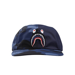 BAPE Color Camo Shark Cap Navy