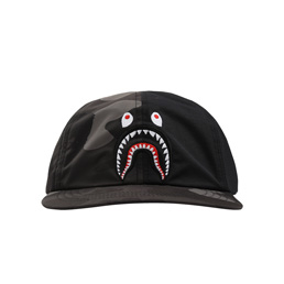 BAPE Color Camo Shark Cap Black