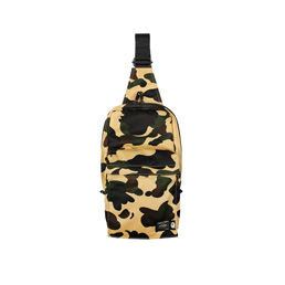 BAPE Porter 1st Camo Shoulder Bag Yellow