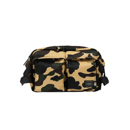 BAPE Porter 1st Camo Waist Bag Yellow
