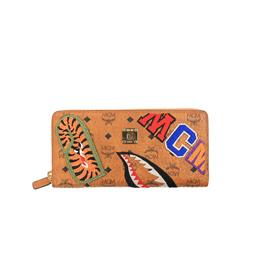 BAPE MCM X Bape Shark Zip Around Wallet - Brown