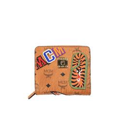 BAPE MCM X Bape Shark Zip Wallet - Brown