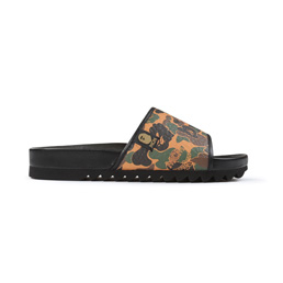 BAPE MCM X Bape MCM Camo Slide Sandal - Brown