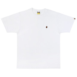 BAPE Ape Head One Point Tee  - White