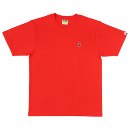 BAPE Ape Head One Point Tee  - Red