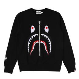 BAPE Shark Crewneck - Black