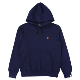 BAPE One Point Pullover Hoodie  - Navy