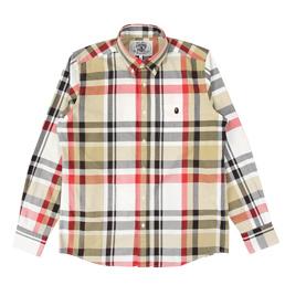 BAPE Bape Check Shirt  - Beige