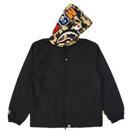 BAPE 1st Camo Shark Hoodie Jacket - Yellow