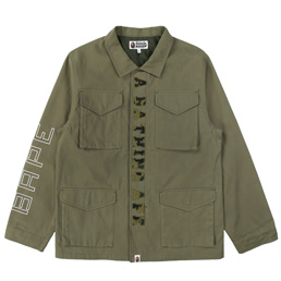BAPE Military Jacket  - Olive
