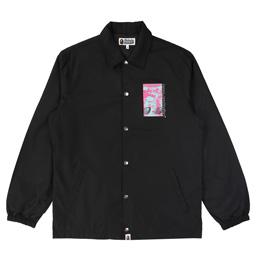 BAPE Graphic Coach Jacket - Black