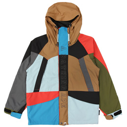 BAPE Multi Color Snowboard Jacket  - Multicolor