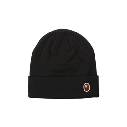 BAPE Ape Head One Point Knit Cap  - Black