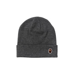 BAPE Ape Head One Point Knit Cap  - Gray