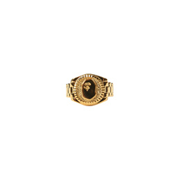 BAPE Ape Head Ring  - Gold