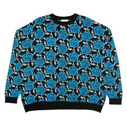 Flagstuff Iron Rose Sweater Black