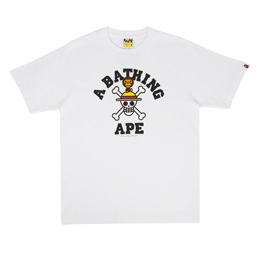 BAPE Straw Hat Jolly Roger x Milo T-Shirt White