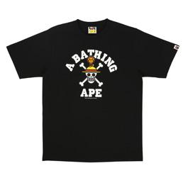 BAPE Straw Hat Jolly Roger x Milo T-Shirt Black