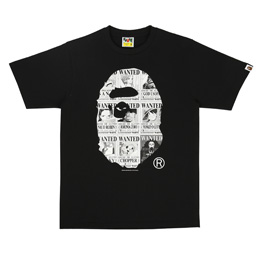 BAPE Onepiece Bounties Ape Head T-Shirt Black