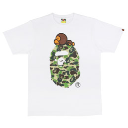 BAPE ABC Milo On Big Ape T-Shirt Wht/ Grn