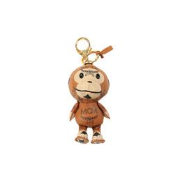 BAPE MCM X Bape Key Chain - Brown