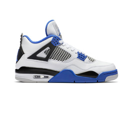 Air Jordan 4 Retro White/Game Royal-Black