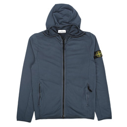 Stone Island Hooded Zip Sweatshirt Avio Blue