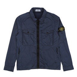 Stone Island Light Overcoat Blue Marine